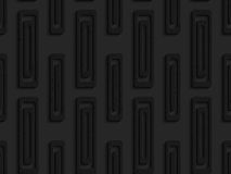 Black textured plastic double rectangles Royalty Free Stock Image