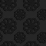 Black textured plastic flowers with rim Royalty Free Stock Photo
