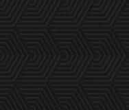 Black textured plastic overlapping hexagons Royalty Free Stock Photo