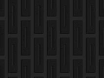 Black textured plastic rectangles with whole Stock Image
