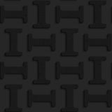 Black textured plastic solid small double T Royalty Free Stock Photography