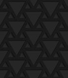 Black textured plastic triangles grid Stock Photo