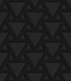 Black textured plastic triangles grid vector illustration