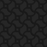 Black textured plastic wavy grid with squares Royalty Free Stock Images