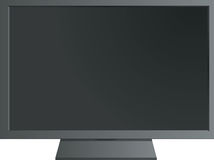 Black tft flat monitor Royalty Free Stock Images