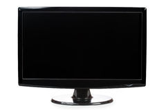 Black TFT widescreen monitor isolated a white. Black widescreen TFT monitor on a white background Royalty Free Stock Images
