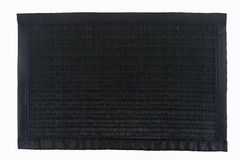 Black thai little mat use for  putting the dish or plate Royalty Free Stock Images