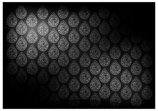 Black Thai Vintage Wallpaper Background with Foral PatternFlower, Royalty Free Stock Photos