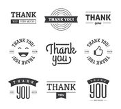 Black Thank you Labels and Signs Stock Images