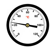 Black Thermometer, ( illustration ). Royalty Free Stock Photo