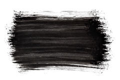 Black thick brush stroke Royalty Free Stock Photography