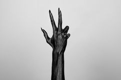 Black thin hand of death Royalty Free Stock Photos