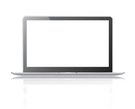 Black thin laptop Stock Image