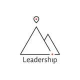 Black thin line leadership logo Royalty Free Stock Photography