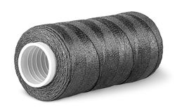 Black thread on the coil horizontally Royalty Free Stock Image