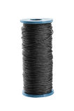 Black thread spool Royalty Free Stock Image