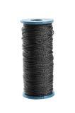 Black thread spool Royalty Free Stock Image
