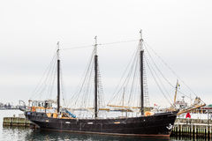 Black Three Masted Schooner in Halifax Stock Images