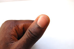 Black thumb Royalty Free Stock Photography