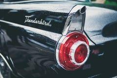 Black Thunderbird Car Stock Image