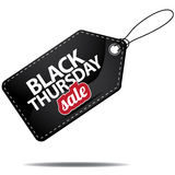 Black Thursday sale tag Stock Images