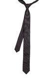 Black tie. Black elegance tie isolated on white background Royalty Free Stock Photography