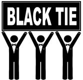 Black tie event Royalty Free Stock Image