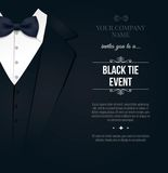 Black Tie Event Invitation Royalty Free Stock Image