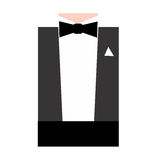 Black Tie. Illustration of a man's formal attire, black bow tie Royalty Free Stock Photography