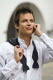 Black Tie Phone Call Royalty Free Stock Photography