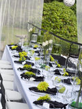 Black-Tie Table Setting Royalty Free Stock Image