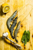 Black tiger prawns Royalty Free Stock Photo