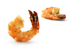 Black tiger prawns, roasted with herbs and spices as an appetize Stock Photo