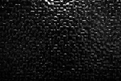 Black Tile Wall Background Reflecting Light. Elegant Pattern Stock Image