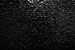 Black tile wall background reflecting light. Elegant pattern Stock Image