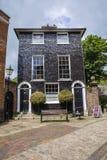 Black Tiled Georgian House at Lewes Castle Stock Photo