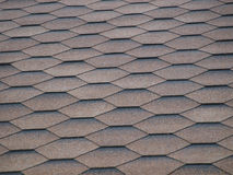 The black tiles roof Stock Photography