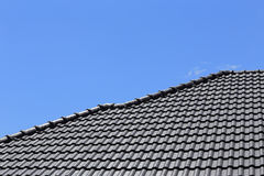 Black tiles roof Royalty Free Stock Image