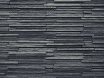 Black Tiles slate wall pattern Architecture details Background royalty free stock photos