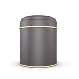 Black Tin box Royalty Free Stock Photo