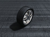 The black tire Stock Photography