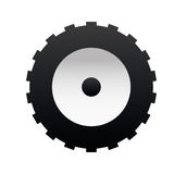Black tire Stock Images