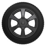 Black tire with black wheel Stock Images