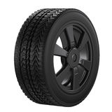 Black tire with black wheel Royalty Free Stock Photography