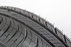 Black tire close-up Royalty Free Stock Image