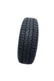 Black tire isolated on white Royalty Free Stock Photos