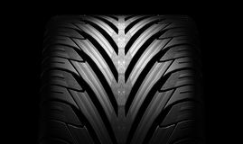 Black tire rubber. Royalty Free Stock Photo