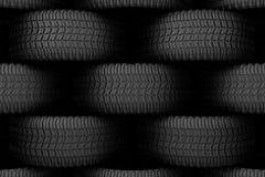 Black tire rubber. Stock Photos