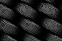 Black tire rubber. Royalty Free Stock Images