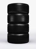 Black tire rubber. Stock Photo